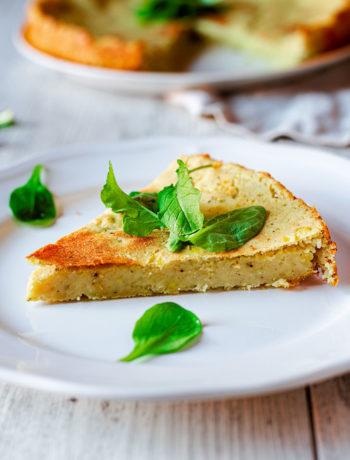 Pinza di patate vegan con insalata