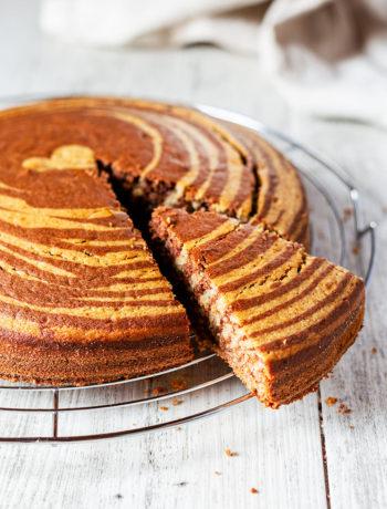 Torta variegata al cacao