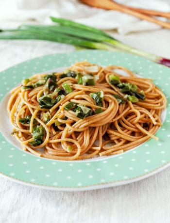 Spaghetti con i cipollotti