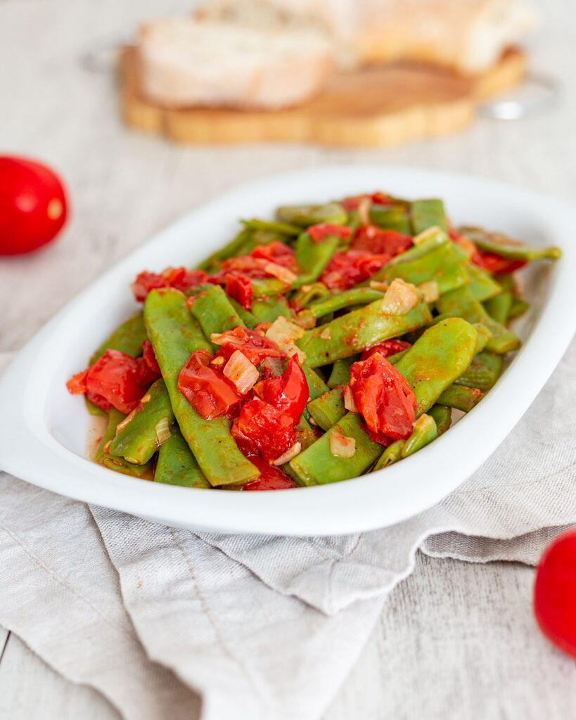 Fagiolini al pomodoro ricetta vegana facilissima