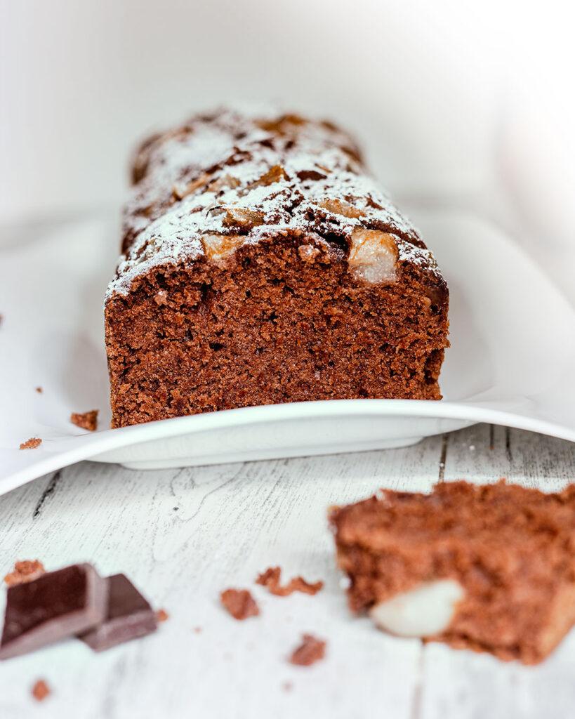 Plumcake vegan al cioccolato con le pere