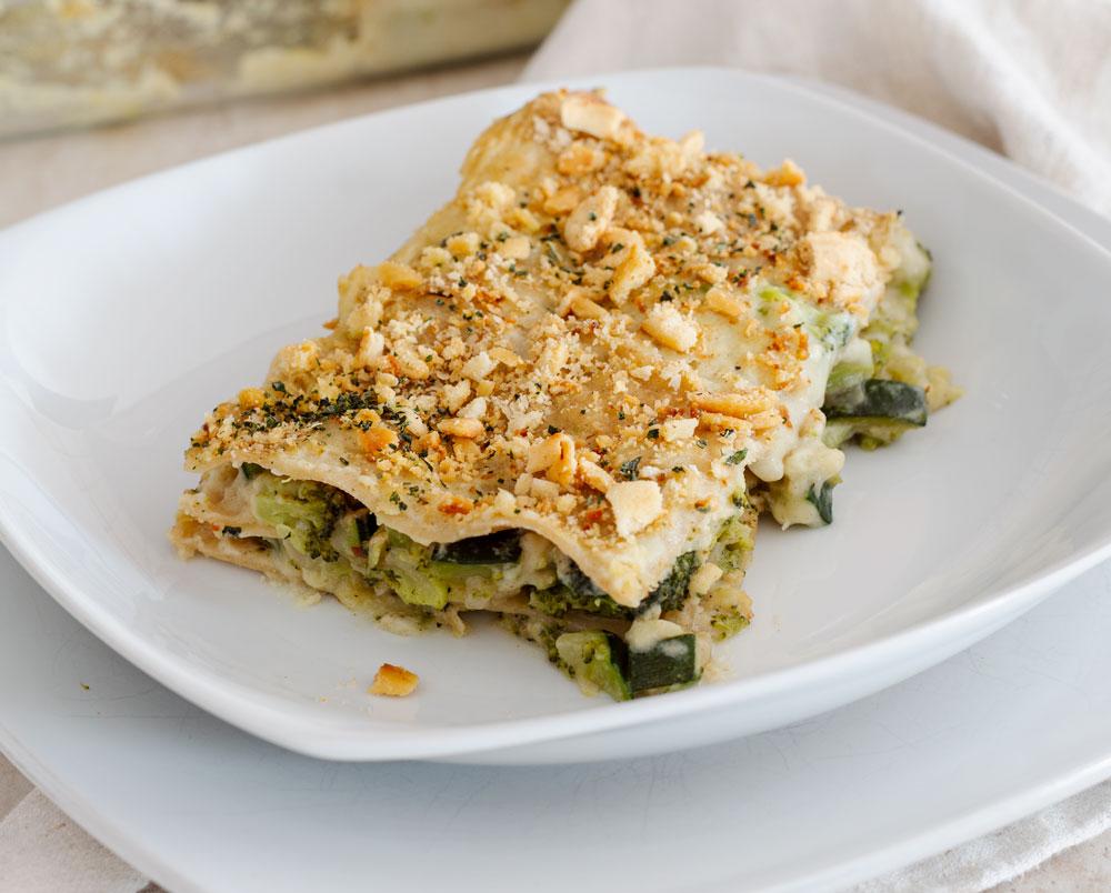 Lasagne vegane con broccoli e zucchine