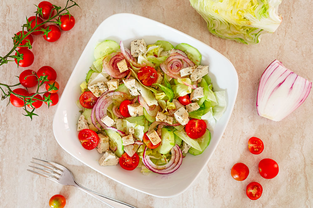 Insalata greca vegana