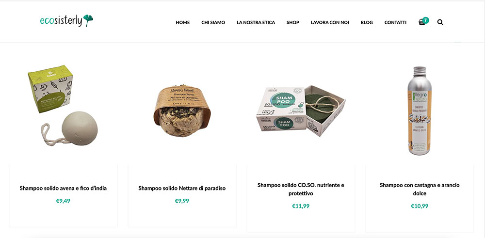 Ecosisterly negozio online zero waste